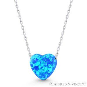 Heart Charm Pendant Necklace .925 Sterling Silver